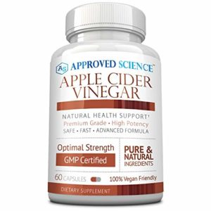 Approved Science® Apple Cider Vinegar with Mother and Piperine - Helps Detoxify, Boost Metabolism, Reduce Inflammation - 1 Vegan Friendly Bottle