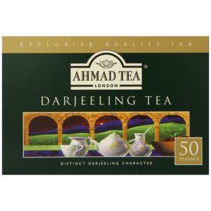 Ahmad Tea Darjeeling Teabag, 50 Count (Pack of 12)