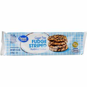 Great Value Sugar Free Fudge Striped Shortbread Cookies, 11.5 oz
