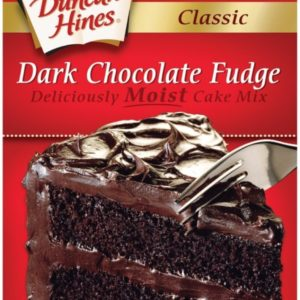Duncan Hines Classic Cake Mix, Dark Chocolate Fudge, 15.25 Ounce