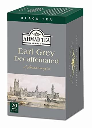Ahmad Tea Decaffeinated Earl Grey Tea, 20-Count Boxes (Pack of 6)