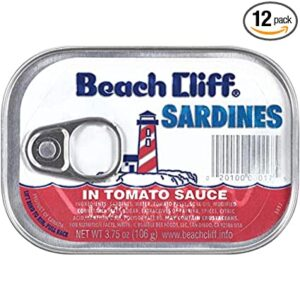 Beach Cliff Sardines In Tomato Sauce, 3.75 Ounce Cans, 18 Count