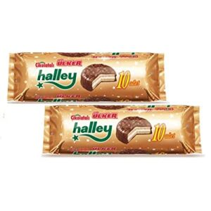 Ulker Halley Chocolate Covered Biscuit filled with Marshmallow Halal