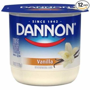 Dannon All Natural Vanilla Flavored Yogurt, 6 Ounce -- 12 per case.