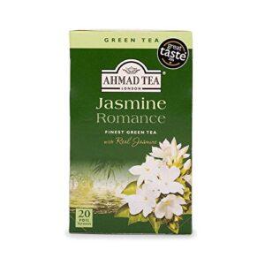 Ahmad Tea Jasmine Romance Green Tea, 20-Count Boxes (Pack of 6)