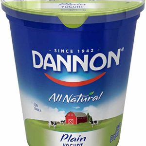 Dannon All Natural Quart Plain Yogurt, 32 Ounce -- 6 per case.