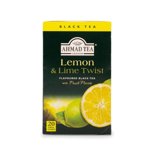 Ahmad Tea Lemon & Lime Twist Black Tea, 20-Count Boxes (Pack of 6)