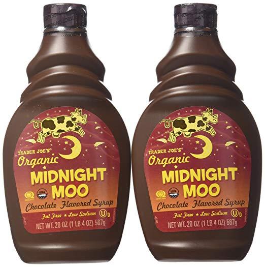 Trader Joe's Organic Midnight Moo Chocolate Flavored Syrup,20 Oz, 2 Pack