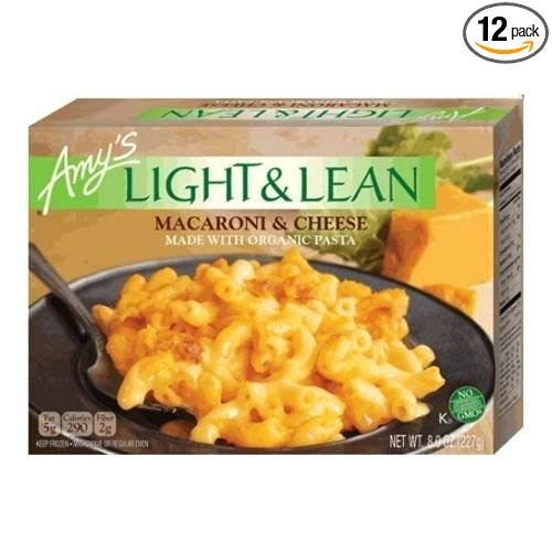 Amys Light and Lean Macaroni and Cheese, 8 Ounce -- 12 per case.