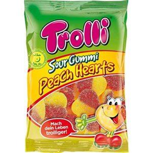 Trolli Sour Gummi Peach Hearts Halal 175g