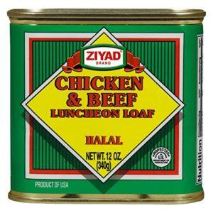 Ziyad Chicken & Beef Luncheon Meat, Halal 12 OZ, (Pack 1)