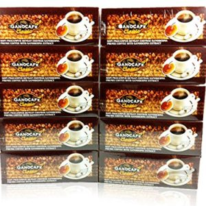 Gano Excel Classic Coffee 100% Certified Ganoderma Extract Sealed (Pack of 10)