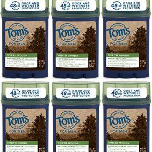 Tom's of Maine North Woods Men's 48-Hour Antiperspirant Deodorant, 2.25 Ounce, (Pack Of 6)