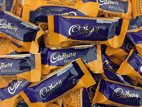 LaetaFood Bag - Cadbury Royal Dark Chocolate Salted Caramel, Snack Size Bar 0.5 oz (Pack of 2 Pounds)