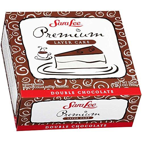 Sara Lee Round Uncut Double Chocolate Premium Butter Cream Layer Cake, 9 inch -- 4 per case.