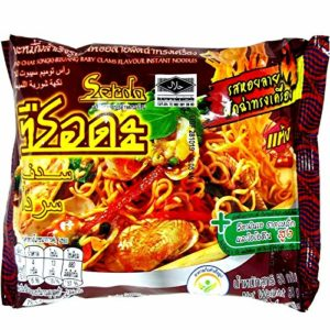 (60g. x 5 Packs) Pad Char Song Khreuang Baby Clams Flavour Quick Instant Noodles Soup Halal