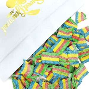 SweetGourmet Sour Rainbow Belts   Mini Licorice Candy   Halal   3 Pounds