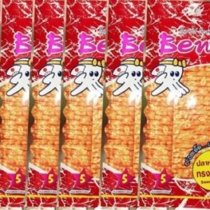 BENTO Squid Seafood Thai Snack Delicious Sweet & Spicy Flavor Halal 50pcs x 20g