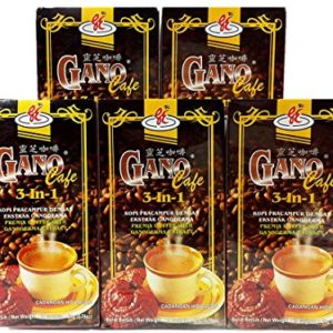 Gano Excel 3 in 1 Coffee With Ganoderma Lucidum Extract 5 Boxes Pack FREE EXPRESS SHIPPING 2-3 Days + FREE Sachets