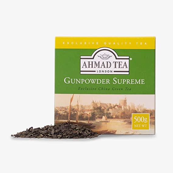 Ahmad Tea Loose Leaf Green Tea, Gunpowder, 17.64 Ounce (Pack of 12)