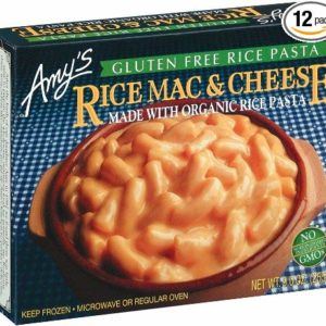 Amy's Rice Macaroni & Cheese, Gluten-Free, Organic, 9-Ounce Boxes (Pack of 12)