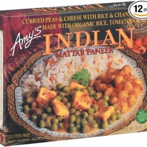 Amy's Indian Mattar Paneer, Gluten-Free, Organic, 10-Ounce Boxes (Pack of 12)