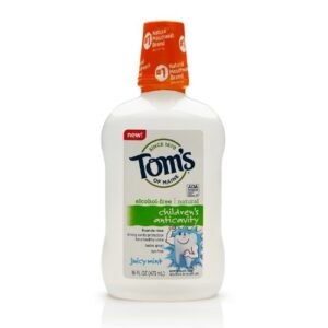 Tom's of Maine - Children's Natural Fluoride Rinse Anticavity Alcohol-Free Juicy Mint - 16 oz.