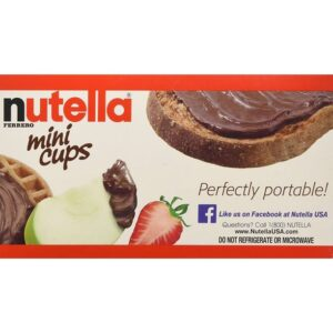 Nutella Ferrero Hazelnut Spread With Skim Milk Cocoa - Mini Cups - 3 Pack
