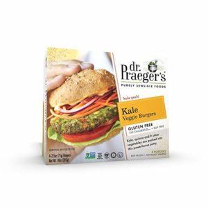 Dr Praegers 5.5 Ounce Jumbo Kale Veggie Burger, 10 Pound -- 1 each.
