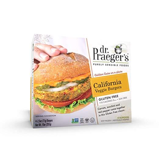 Dr. Praeger's Gluten Free California Veggie Burger, 10 Ounce (Frozen)