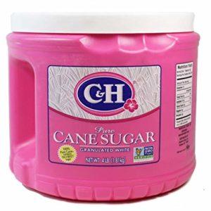 C&H, Pure Cane Granulated White, Sugar, 4lb Tub (64oz) (Pack of 2)