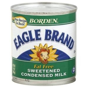 Borden, Eagle Brand, Condensed Milk, Fat Free, 14oz Can (Pack of 4)