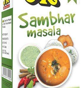 JK SAMBHAR MASALA 3.53 Oz, 100g (Sambar Curry Spice Mix, Dhal or Daal Curry) Non-GMO, Gluten free and NO preservatives!