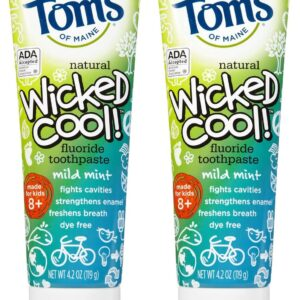 Tom's of Maine Wicked Cool Anticavity Paste - 4.2 oz - 2 pk