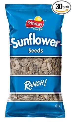 Frito Lay Sunflower Seeds Ranch Flavor, 1.875 Oz Bags (Pack of 30)