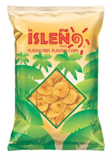 El Isleno Original Plantain Chips, 4 Oz (Pack of 28)