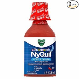 Vicks NyQuil Children's Cold & Cough Liquid Cherry Flavor - 8oz, Pack of 2