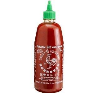 Huy Fong Sriracha Chili Hot Sauce, 28 oz Bottle (Pack of 2) (1 Pack)