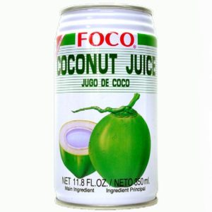 Six pack of Foco Coconut Juice Drink 11.8 Oz - 350 ml Cans