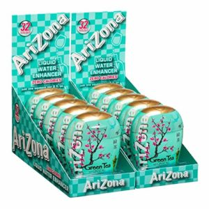 AriZona Green Tea with Honey and Ginseng Liquid Water Enhancer LWE (Pack of 10), Low Calorie Single Serving, Liquid Drink Mix, Just Add Water for Deliciously Refreshing Iced Tea Drink Lee