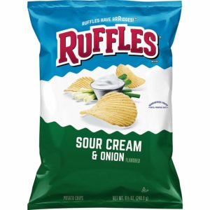 Ruffles Sour Cream & Onion Flavored Potato Chips, 8.5 Ounce