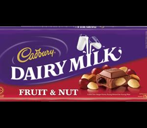 Cadbury Dairy Milk Fruit & Nut 120g From England
