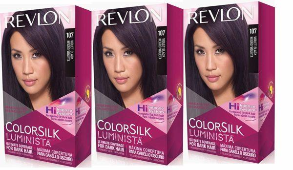 Revlon Colorsilk Luminista Haircolor, Violet Black, 3 Count