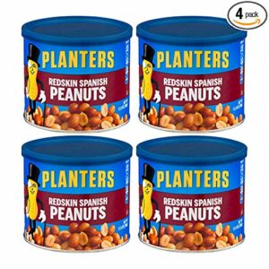 Planters Redskin Spanish Peanuts with Sea Salt 12.5oz Can (Pack of 4)