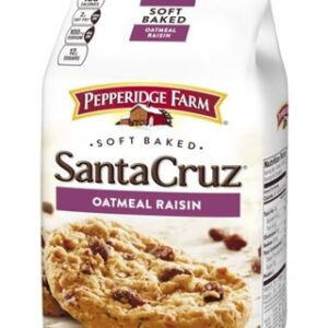 Pepperidge Farm, Santa Cruz, Soft Baked, Cookies, Oatmeal Raisin, 8.6 oz, Bag