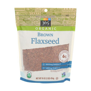 365 Everyday Value, Organic Brown Flaxseed, 16 oz