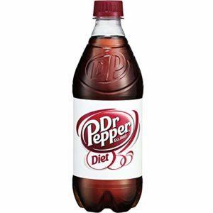 Diet Dr. Pepper Soda, 20oz Bottle (Pack of 10, Total of 200 Fl Oz)