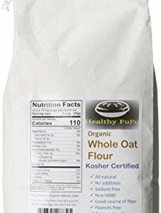 Healthy FuFu Organic Whole Oat Flour - Top Grade Finely Ground Oat Flour - Kosher - 5 lb