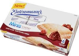 Entenmann's   Minis Cherry Snack Pies  Lightly Glazed   Delicious   Tasty   Yummy   12 oz   6 Individually Wrapped count   1 Box  