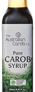 Organic Carob, Australian, Carob Syrup, Superfood, 8.45fl.oz. NON-GMO, World's #1 Best Tasting, Pure Carob Syrup (no added flavors, sugars) Vegan, New Generation Carob, Organic Carob Syrup, Carob